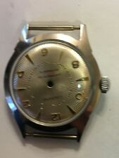 Lucerne man's stainless steel watch case with dial and crown