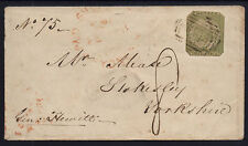 Australia - NSW 1852 cover to Yorkshire with 3d green (trimmed) Sydney Views