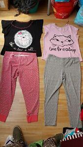 2 x Ladies Stretch Pyjamas Cat & Hedgehog Size 16-18 by George