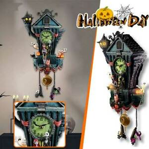 Halloween Nightmare Handicraft Ornaments Christmas Wall Clock Party Scary Props