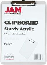 JAM Plastic Clip Board, Clear Clipboard, 1/Pack, 9 x 12.5