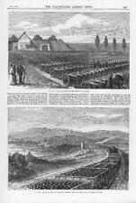 1870 FRANCO GERMAN WAR Cannon Guns Captured Shells Shots Military Hauheim (141)