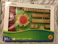 Nib Imaginarium Express Deluxe Wood & Plastic Train Track Pack 31 Pcs Compatible