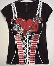 Trachten Shirt Damen - Größe M - Bluse Oktoberfest Wies'n Trachtenbluse Neu