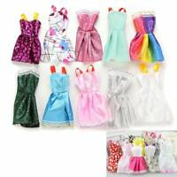 10Pcs Party Dresses Clothes Gown For Dolls Toys Girl's Gifts