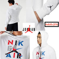 🔥SZ XL 🆕 Nike Men's Air Jordan Jumpman Retro Legacy AJ 4 Pullover Hoodie White