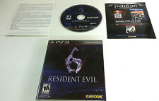 Resident Evil 6 Sony PlayStation 3 PS3 2012 Rated M-Mature Shooter Pre-owned