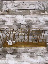 """New Scott Living Luxe Noel Led Light Up Christmas Table Decor Sign Gold 20"""" x 8"""""""