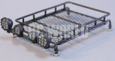 RC Scale Accessories METAL ROOF RACK w/  L.E.D LED LIGHTS Light Bar YELLOW LENS