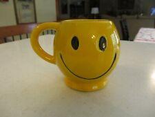 Vintage McCoy Pottery Smiley Happy Face Coffee Cup Mug Yellow 1970's era NICE !!