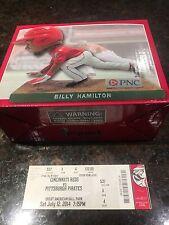 Billy Hamilton Bobblehead SGA Cincinnati REDS 7/12/14 (2014) plus GAME TICKET