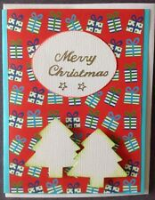 1 Hand made Xmas Card. Merry Christmas. Postage $2 for 1 to 6 cards