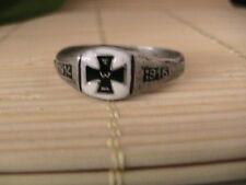 WWI German iron cross ring