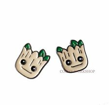 CUTE GUARDIANS OF THE GALAXY GROOT STUD EARRINGS PIERCED GIFT XMAS GIRLS WOMENS