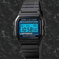 Casio Digital Retro Illuminate Watch F-105W-1 Free Shipping Brand New