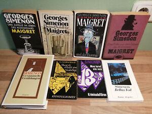 Georges Simenon 15 krimi Maigret BücherSammlung  Konvolut 8 Bücher