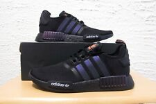 Adidas NMD R1 Mens Size 9.5 Reflective Xeno Black Orange Running Shoes FV8025