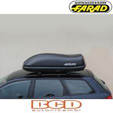 FARAD - BOX BAULE PORTAPACCHI F3 N8 400LT NERO GOFFRATO - PORTABAGAGLI AUTO