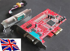 Serial RS232 x2 PCIe PCI Express Card 2S BASSO PROFILO LP
