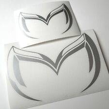 "MAZDA ""Evil M"" Logo Vinyl Sticker Decal Mazda 3 5 6 RX-7 RX-8 MX-5 Miata. (TWO!)"