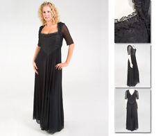 NEW!  Zaftique BACCARA Dress Gown BLACK 1Z 5Z / 16 32 / XL 1X 5X