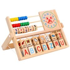 Wooden Kids Smile Face Calculation Frame Educational Puzzle Learning Toys Gift