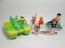 Playmobil Beach Figures w/ Surfer Jet Ski & Paddle Boat  NEW Loose