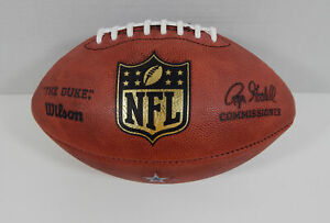 Dallas Cowboys Game Issued Wilson Authentic The Duke Football With Team Decal