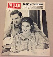 QUEEN ANNE-MARIE GREECE KING CONSTANTINE ALEXIA VTG Magazine Billed-Bladet 1963