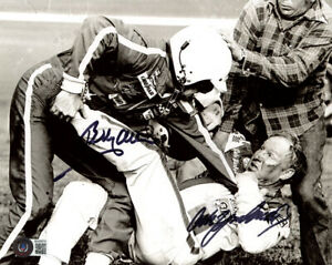 BOBBY ALLISON CALE YARBOROUGH SIGNED AUTOGRAPHED 8x10 PHOTO FIGHT BECKETT BAS
