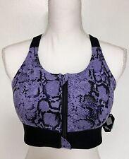 LuLaRoe Consistent Sports Bra - Medium - Purple & Black - Rise Workout #4335