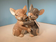 Salt & Pepper Shakers-Mwah- Hugging Mice- By Westland-New In Box