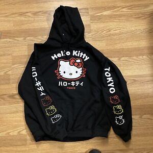 NEW Hello Kitty Tokyo Kanji Hoodie Size Medium Hooded Sweatshirt