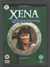XENA WARRIOR PRINCESS - Season 3 - UK REGION 2 DVD SET