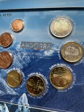 More details for andorra 🇦🇩x8 coins set 2014 1 cent to 2€ euro bunc official kms folder year 1