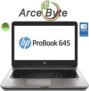 "NOTEBOOK HP PROBOOK 645 G2 14"" PC PORTATILE AMD PRO A8 SSD 128GB RAM 8G WIN 10"