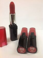 LOT OF 3 - L'Oreal Infallible Le Rouge Target Red Lipstick #308 NEW.
