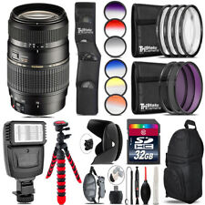 Tamron 70-300mm Lens for Nikon + Flash + Color Filter Set - 32GB Accessory Kit