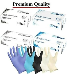 NITRILE VINYL LATEX DISPOSABLE GLOVES SURGICAL MEDICAL TATTOO FOOD MECHANICE