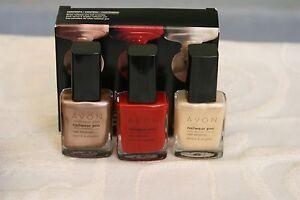 Avon Enchanted Holiday Nailwear Collection 3-Pc Set Nailwear Pro ~Deluxe Shine~