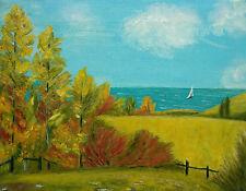 K. HUTCHINGS - 'Lac Léman' - Vintage Landscape Painting - Unframed - Circa 1990