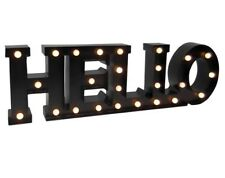 MARQUEE LED LIGHT UP SIGN HELLO INDOOR OUTDOOR BLACK NEW