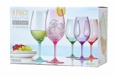 8 Piece Shatter Resistant Wine Stemware 23 Oz Color Tritan Glasses Indoors and