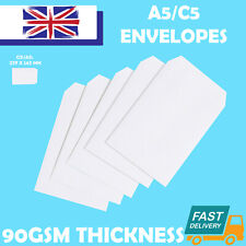 More details for quality c5/a5 plain 90gsm white envelopes self seal strong paper 229mm x 162mm