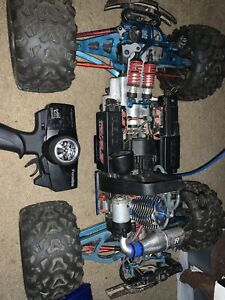 Used Traxxas revo 3.3 rc car nitro truck offer aluminum upgrades
