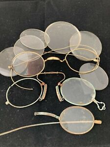 Vintage Lot of  Eyeglasses Scrap Parts Repair