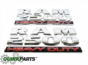 Dodge Ram 2500 HEAVY DUTY Emblem Nameplate Right & Left Side Set Of 2 NEW MOPAR