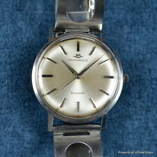 MOVADO KINGMATIC 1960s 34.5MM Cal 531 AUTOMATIC Ref 15161 SILVER RHODIUM DIAL