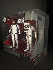Star Wars 40th Elite Series Die Cast han & Luke Stormtrooper Vitrina