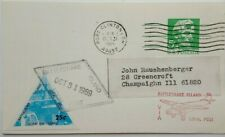 UNITED STATES 1969 RATTLESNAKE ISLAND LOCAL POST ORDER CARD WITH LABEL & CACHET